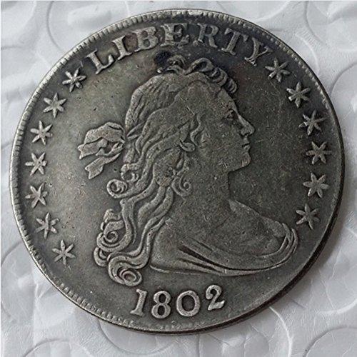 - Rare Antique USA United States 1802 Liberty Silver Color Dollar Coin