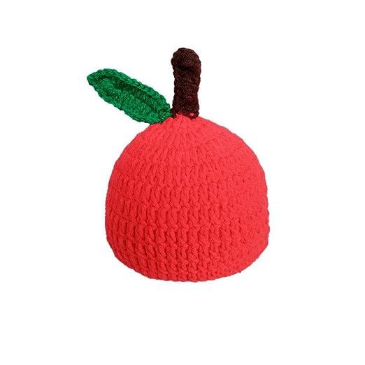 e8e399ca4 Amazon.com  Sunsee Newborn Baby Apple Knit Crochet Clothes Costume ...