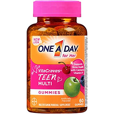 One A Day Vitacraves Teen for Her, 60 Count (One A Day Bayer)