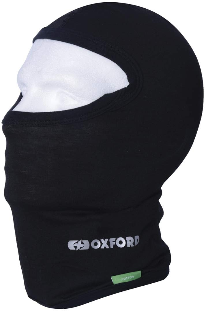 Oxford Motorcycle Black Lightweight Cotton Balaclava CA001