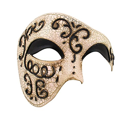 Luxury Mask Half Face Mask Masquerade Phantom Of