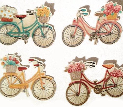 Bicycle Applique - [5 Count Set] Custom and Unique (2.5