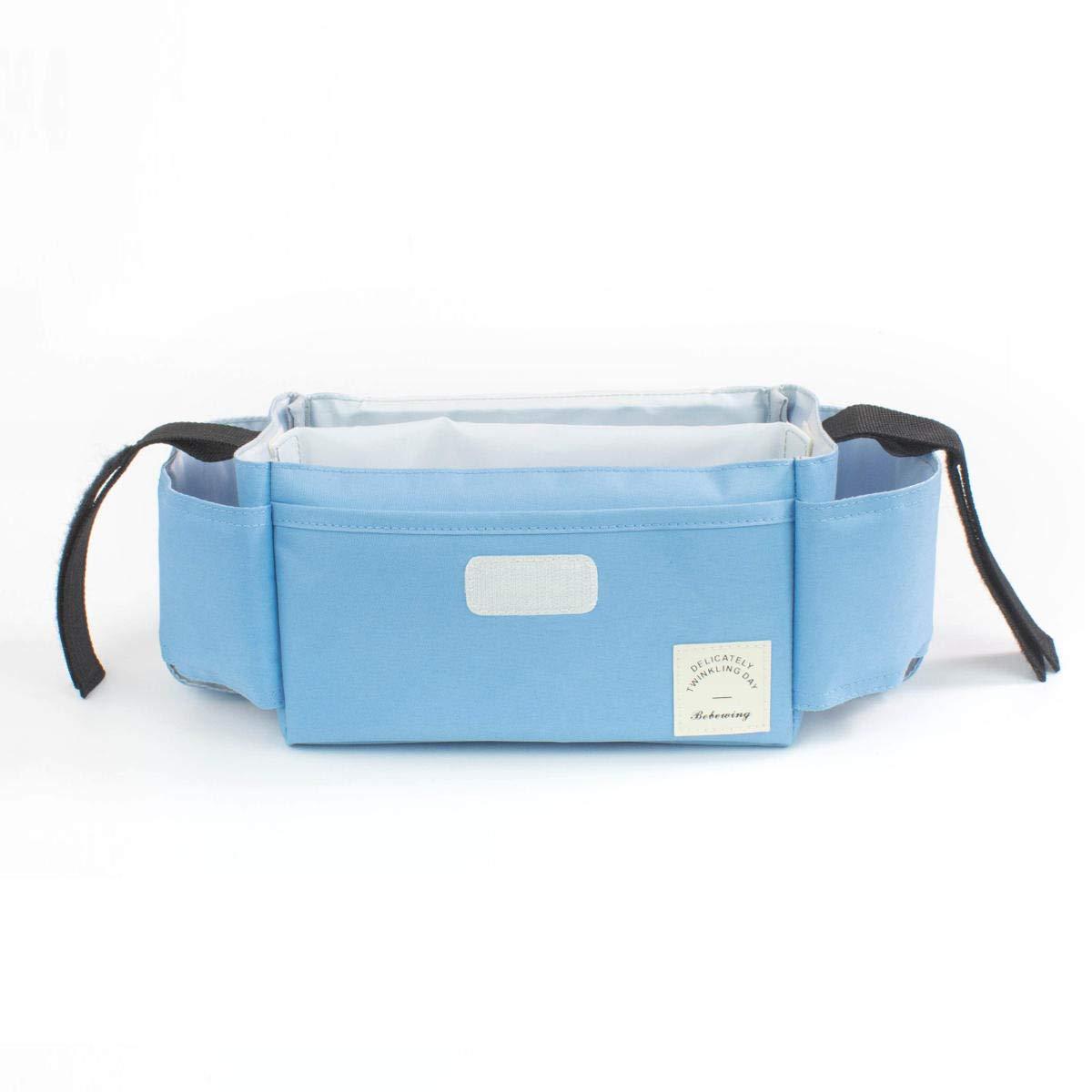 Hitommy Universal Baby Strollers Organizer Pram Diaper Toy Handing Storage Handy Buggy Hook Bag - Blue
