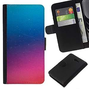 KLONGSHOP // Tirón de la caja Cartera de cuero con ranuras para tarjetas - Pink Glass Niebla púrpura misterioso - Sony Xperia M2 //