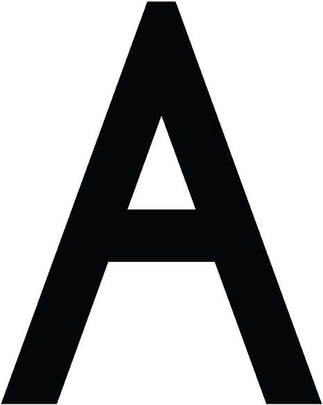 Buchstaben Aufkleber Wetterfest Einzelner Buchstabe A Schwarz 10 Cm 100mm Großgeschrieben Küche Haushalt