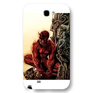 UniqueBox Customized Marvel Series Case for Samsung Galaxy Note 2, Marvel Comic Hero Daredevil Samsung Galaxy Note 2 Case, Only Fit for Samsung Galaxy Note 2 (White Frosted Case) WANGJING JINDA
