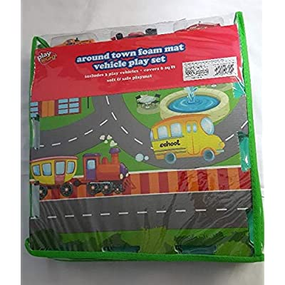 Play Right Around Town Foam Mat Vehicle Play Set: Toys & Games