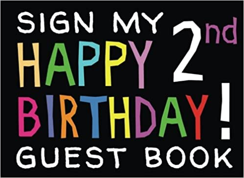 sign my happy 2nd birthday guest book birthday activity and