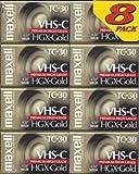 Maxell TC-30 VHS-C Camcorder HGX-Gold Premium High Grade 8-Pack