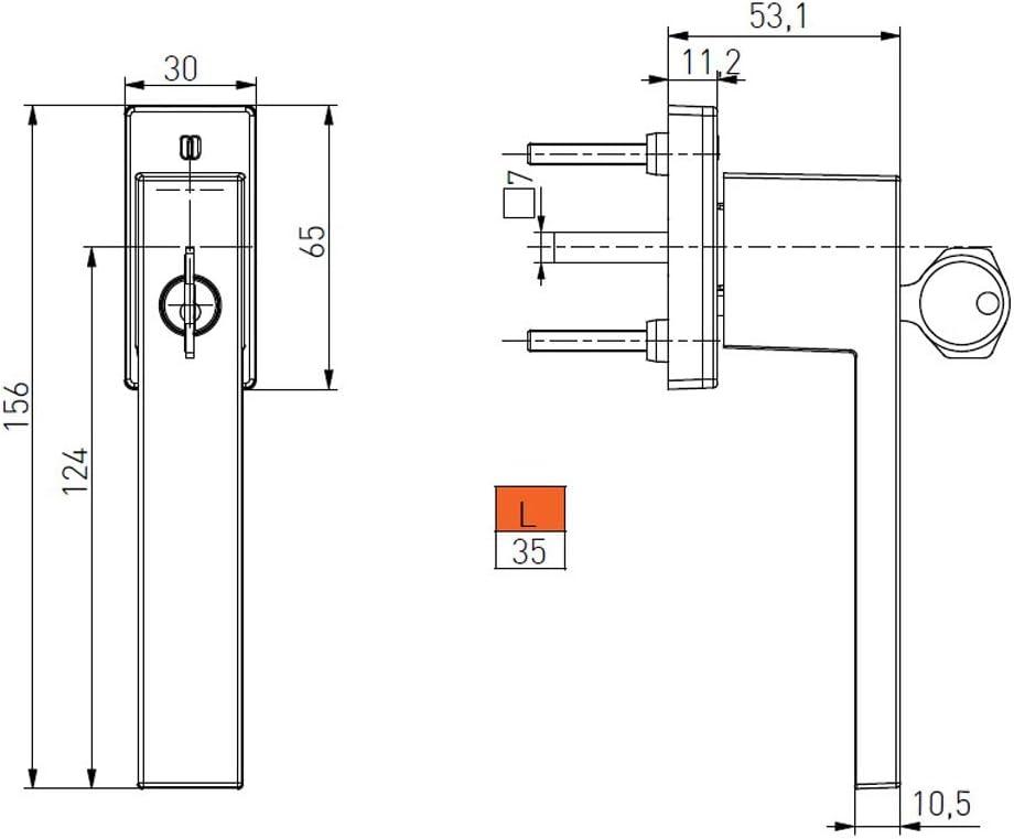 Anthrazit - RAL 7016 Fenstergriff Fensterolive Rasterolive Abschliessbar Modell Hanna mit 2 Schl/üssel verschiedene Farben