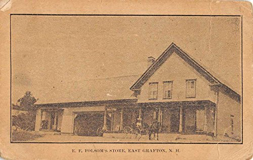 East Grafton New Hampshire Folsoms Store Street View Antique Postcard - In Stores Folsom