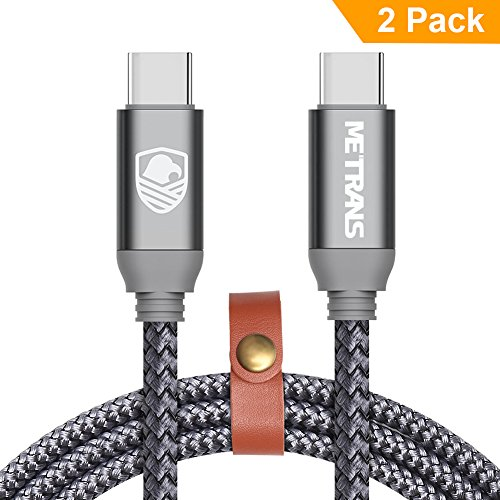 USB C to USB C Cable Fast Charging, METRANS [3FT 2 Pack] Power Delivery PD Up to 20V 3A 60W Nylon Braided USB-C Type C to USB C Cable Charging and Sync Cable for Macbook and Other Devices by METRANS METRANS TRANS ME