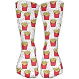 short deep fry - Unisex French Fries Cool High Athletic Stockings Long Socks Sports Outdoor One Size 30cm For Men Women