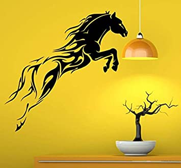 Hoopoe Decor A Running Horse Wall Stickers And Decals   Black Part 90