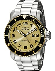 Invicta Mens 15074 Pro Diver Analog Display Japanese Quartz Silver Watch