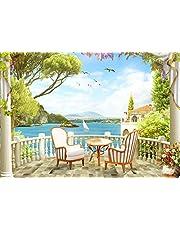 wandmotiv24 Fotobehang Zonneterras zee Fotobehang, muurschildering, motiefbehang, vliesbehang Steenweg, Italië, fresco Steenweg, Italië, fresco M1080