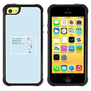 iKiki Tech / Estuche rígido - Exercising Workout Traing Running Funny Quote - Apple iPhone 5C