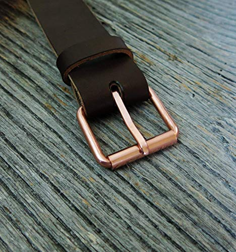 COPPER BELT BUCKLE - Pure Solid Copper - Custom Made in the USA