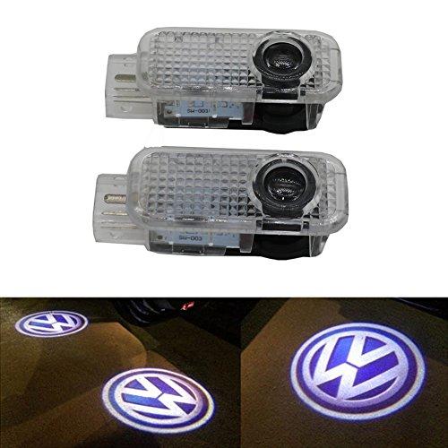 Grolish 2Pcs Car Door Logo Projector Ghost Shadow Light for Volkswagen Phaeton Passat Touareg