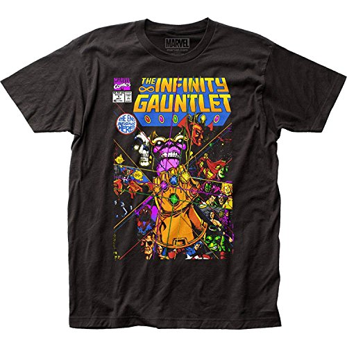 Thanos - Mens The Infinity Gauntlet Fitted T-Shirt, Size: Large, Color: Black