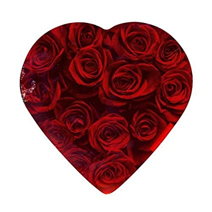 Amazon Com Valentine Rose Heart Shaped Chocolate Box Candy And Chocolate Covered Fruits Grocery Gourmet Food