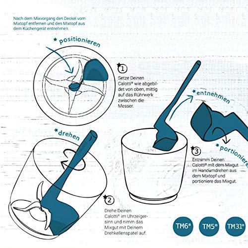 Farrom Rotation Scraper Rotating Spatula Processing Tool for Processor Mixing Barrels