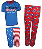 Freestyle Boy's 3-Piece Spring Pajama Set, USA, Size 5'