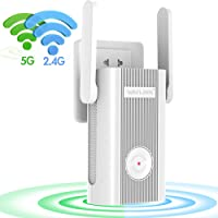 WAVLINK [Upgrade 2019] 1200 Mbps Dual Band Wifi Range Extender/Wifi Signal Booster/Wifi Extender Booster with 1 Gigabit Ethernet Ports, Work with Any Router