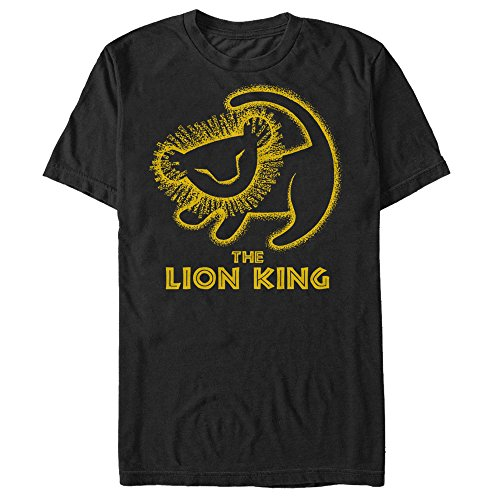 Disney Men's Lion King Painted Baby Simba Poster Graphic T-Shirt, Black, 4X-Large