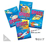 12 - Space Activity Books with crayons