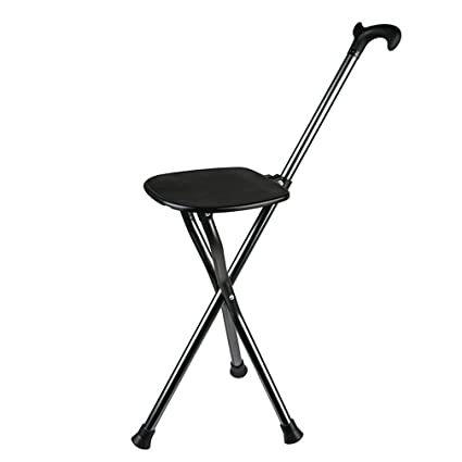 Magnificent Amazon Com Waobe Folding Walking Cane Chair Stool Height Machost Co Dining Chair Design Ideas Machostcouk