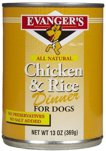 EVANGER'S 776478 12-Pack Natural Classic Chicken and Rice Dinner for Dogs, 13-Ounce, My Pet Supplies