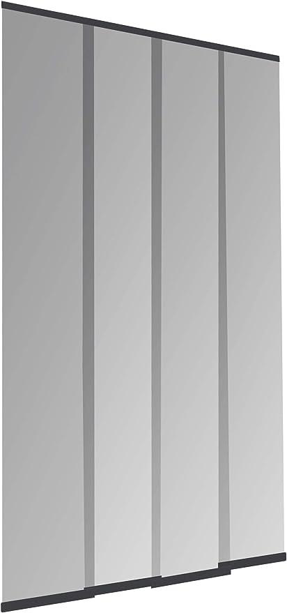 Windhager Puerta laminar mosquitera Plus Easy Cortina fácil de Lamas, acortable Individualmente, 120 x 250 cm, Antracita, 04315: Amazon.es: Jardín