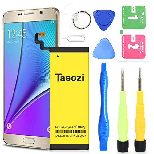 Galaxy Note 5 Battery, Taeozi 3200mAh EB-BN920ABE Li-Polymer Replacement Battery for Samsung Galaxy Note 5 SM-N920 N920V N920A N920T N920P N920R4+Replacement Screwdriver Tool Kit