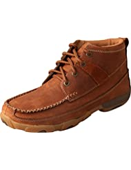 Twisted X Womens Oiled Saddle Lace-Up Driving Shoes Moc Toe