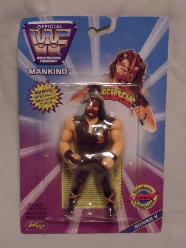 (WWE JusToys Mankind 1997 Bend-Ems Series 5.)