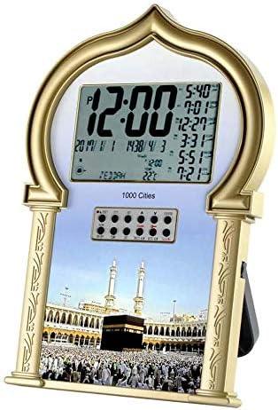 Auto Islamic Azan Clock with Qibla Direction QAC602 Gold