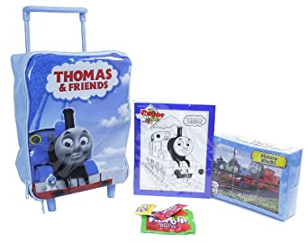 Amazon.com | Thomas the Tank Rolling Backpack Travel Set | Kids ...