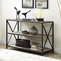 40 X Frame Metal and Wood Media Bookshelf , Barnwood