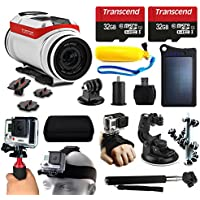 TomTom Bandit 4K HD Action Camera + 64GB Essetial Accessories Bundle includes Solar Charger + Stabilizer + Head Strap + Car Mount + Selfie Stick + Travel Case + Car Charger + More!