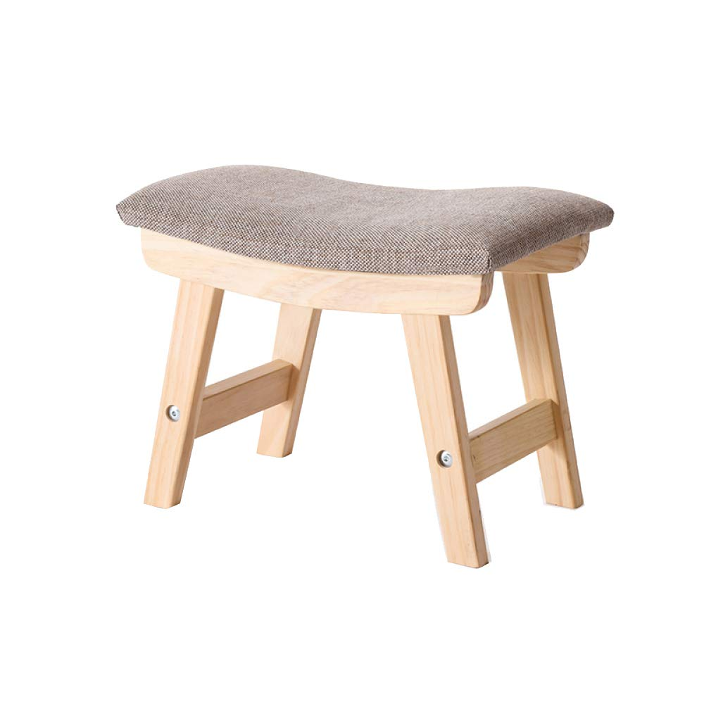 A+382429cm Sofa Stool Solid Wood Stool Upholstered Fabric Change shoes Stool Living Room Stool Fashion Creative Small Bench NonSlip NonRust,B+38  24  29cm