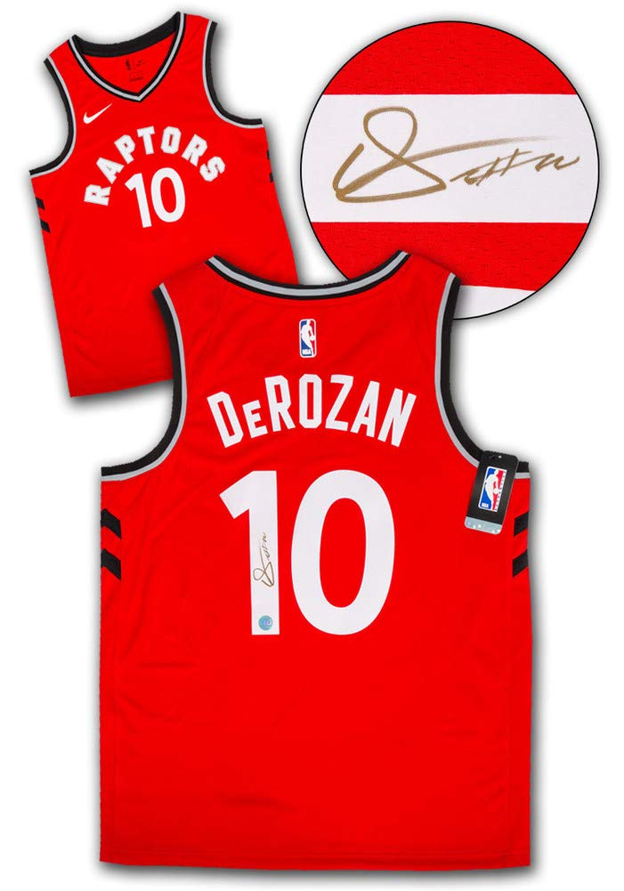 Demar DeRozan Toronto Raptors Autographed Autograph Red Nike Swingman Jersey  - Certificate of Authenticity Included at Amazon s Sports Collectibles Store 7b740335f