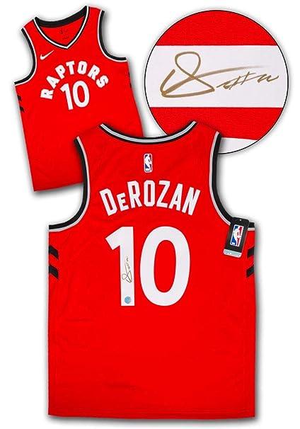 0e859a665 Demar DeRozan Toronto Raptors Autographed Autograph Red Nike Swingman Jersey  - Certificate of Authenticity Included