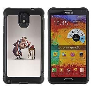 "Hypernova Defender Series TPU protection Cas Case Coque pour SAMSUNG Galaxy Note 3 III / N9000 / N9005 [Parodia cómica 3D Figura Arte""]"