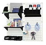 Wall Control Hobby Craft Pegboard Organizer Storage Kit, White/Black