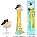 Mönelie Fairy Doll Set - Chantelle (Includes a Doll, Ribbon Wand & Stand)