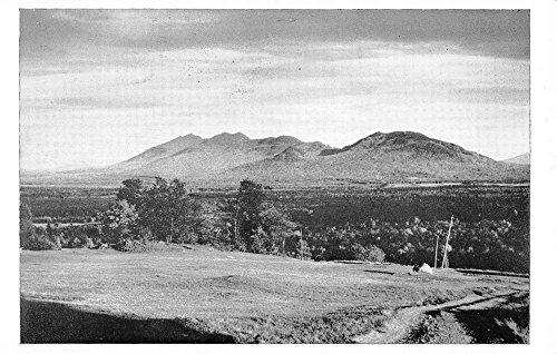 View Postcard Birdseye (Eustis Ridge Maine Mount Bigelow Birdseye View Antique Postcard K86025)