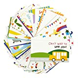 Juvale Pack of 60 Lunch Box Notes - Colorful Inspirational and Motivational Cards for Kids, 2 x 3.7 Inches