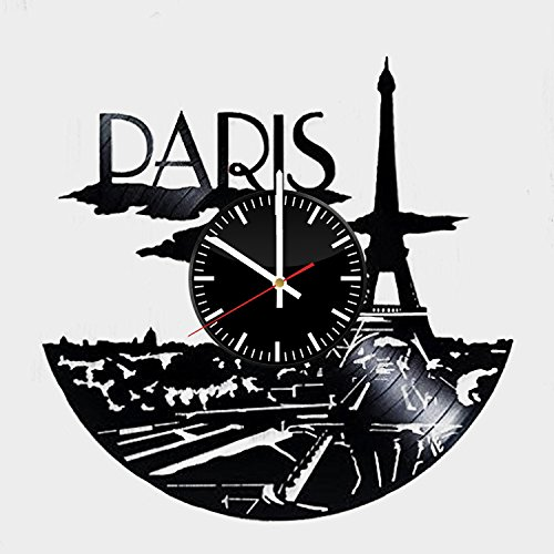 Paris Record Wall Clock - Get unique of bedroom wall decor -