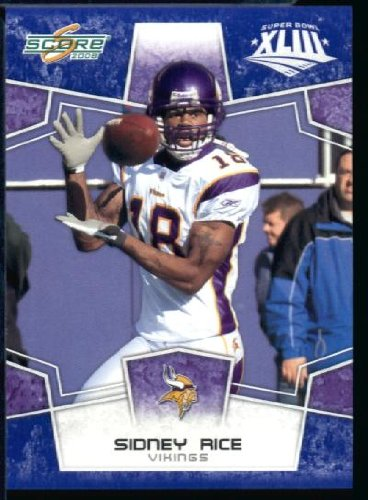 sidney rice score rookie card - 2